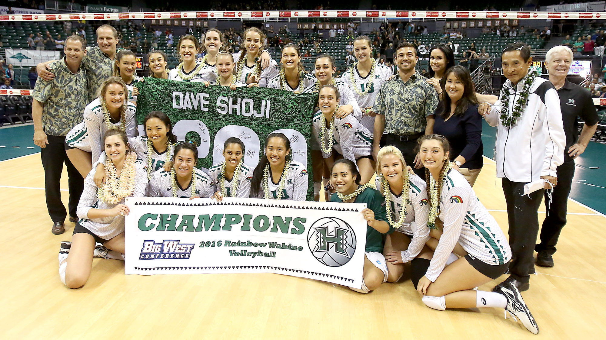 Shoji Captures 1,200th Win; No. 14 Hawai'i Clinches Big West Title With Cal Poly Sweep